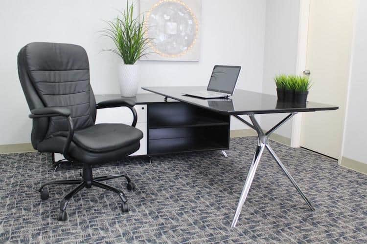 Boss Office Products B991-GY Heavy Duty Double Plush Leather Chair