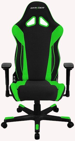 DXRacer Racing Series DOH:RW106 Office Chair Front look - best office chairs under 300 dollars