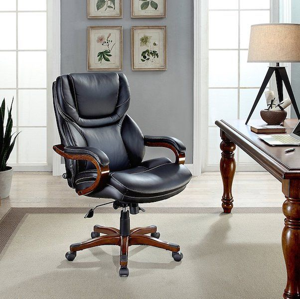serta bonded leather big and tall best traditional office chair under 300 dollars