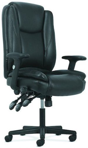 basyx by HON High-Back Leather Office Chair