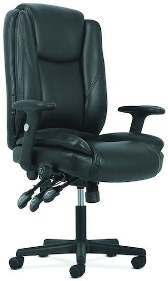 basyx by HON High-Back Leather Office Chair Under $300
