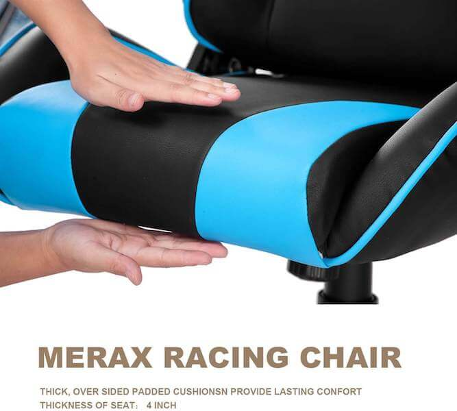 Padded Cushion in Merax Gaming Chair