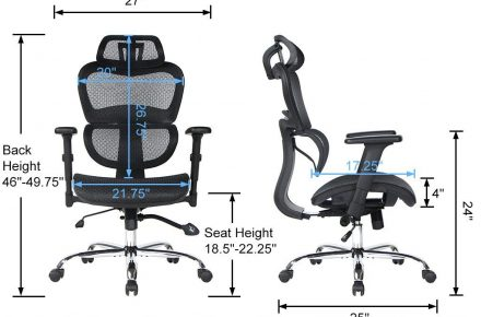 VIVA OFFICE High Back Chair - budget chair under $200 for tall people
