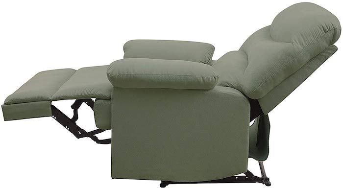 ACME Arcadia Sage Microfiber Recliner - best budget ergonomic reclining chair