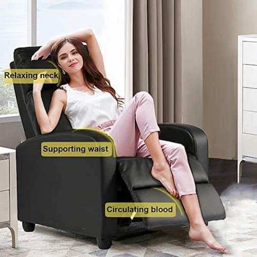 BestMassage Modern Leather Recliner Chair Sofa Furniture