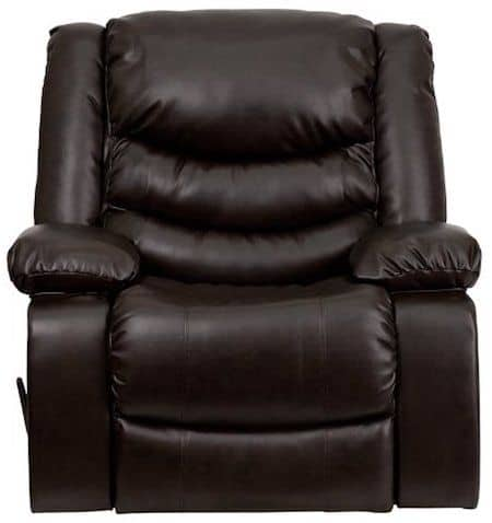 Flash Furniture Plush Brown Leather Recliner with Lumbar support