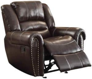 Homelegance Glider Bonded Leather Reclining Chair
