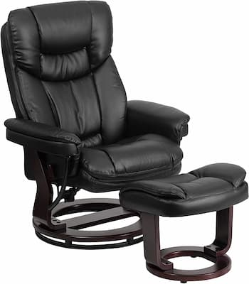 Flash Furniture Recliner with Ottoman - best recliner for relief from back pain