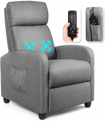 Giantex budget recliner chair with great lumbar support and massage