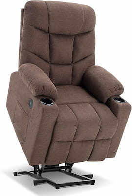 Mcombo recliner with electric Power lift for elderly people suffering from back pain