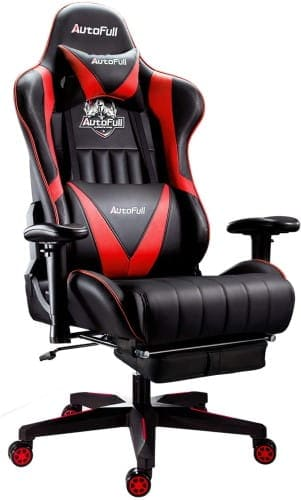 AutoFull Racing Style Ergonomic Computer Gaming Office Chair with Pillows