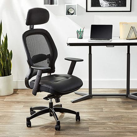 Space seating Managers Chair with Headrest