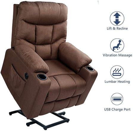 A premium sleeper recliners from Esright with Power Lift Electric Recliner chair