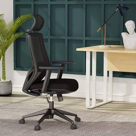 Mesh Chair with Lumbar Support for Back and Neck Pain