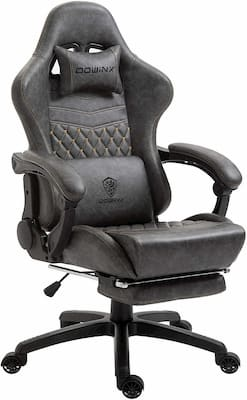 Dowinx reclining gaming/office chair with lumbar massage and footrest