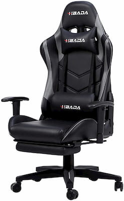 Hbada High Back Ergonomic Office Chair with Reclining Feature Neckrest and Footrest