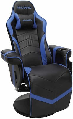 Respawn Comfortable Recliner with Neck Cushion Footrest and Padded Arm rests