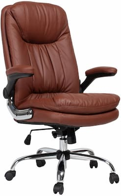 YAMASORO High Back Executive Office Desk Chair with flip up arms