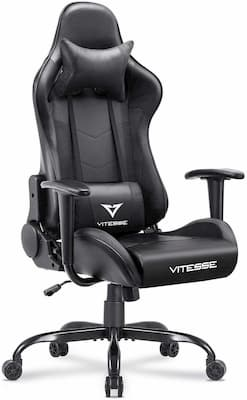 Vitesse gaming chair with reclining and adjustable features