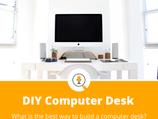 how to build a computer desk